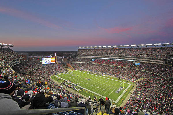 Patriots Print featuring the photograph Gillette Stadium In Foxboro by Juergen Roth
