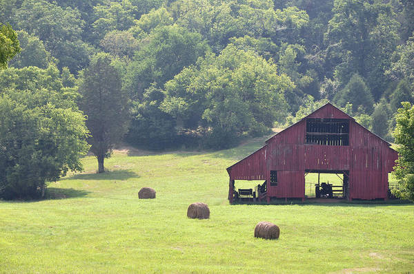 Landscapes Print featuring the photograph Grampa's Summer Barn by Jan Amiss Photography
