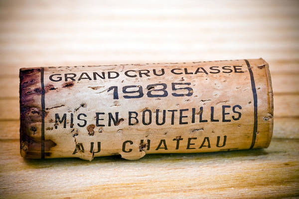 Grand Cru Classe Print featuring the photograph Grand Cru Classe Bordeaux Wine Cork by Frank Tschakert