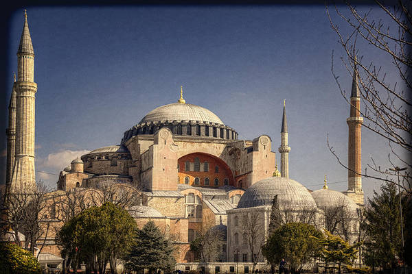 Hagia Sophia Print featuring the photograph Hagia Sophia by Joan Carroll