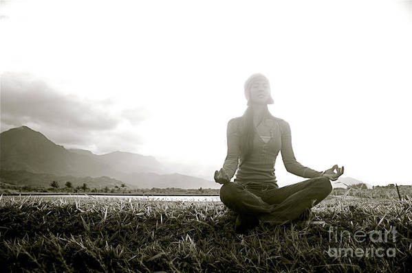 Active Print featuring the photograph Hanalei Meditation by Kicka Witte - Printscapes