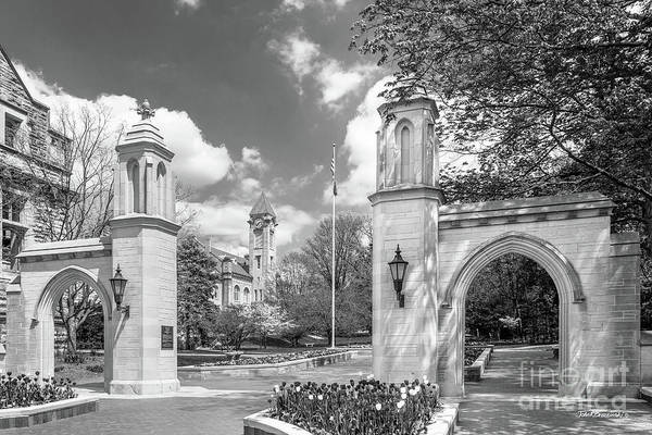 American Print featuring the photograph Indiana University Sample Gates by University Icons