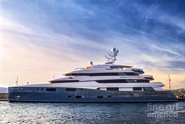 Yacht Print featuring the photograph Luxury Yacht by Elena Elisseeva