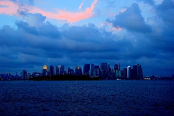 Nyc Print featuring the photograph Manhattan Skyline by Fareeha Khawaja