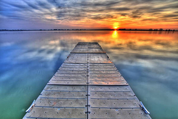 Dock Print featuring the photograph Morning Sky by Scott Mahon