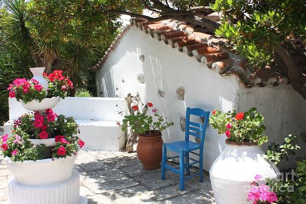 Greece Print featuring the photograph My Greek Garden by Yvonne Ayoub