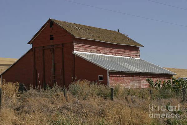 Old Print featuring the photograph Old Barn by Robert Torkomian