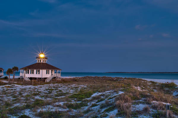 Lighthouse Print featuring the photograph Old Port Boca Grande Lighthouse by Rich Leighton