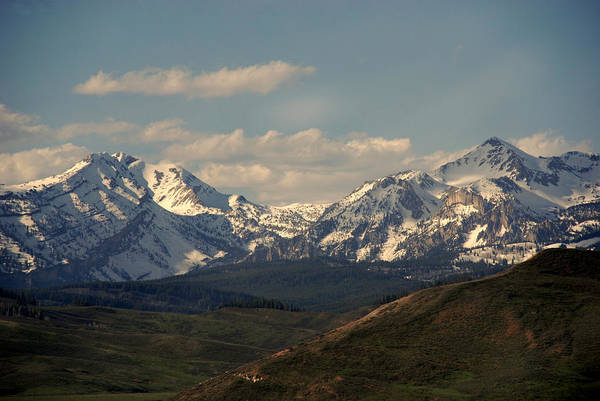 Landscape Print featuring the photograph On The Way To Jacksonhole Wy by Susanne Van Hulst
