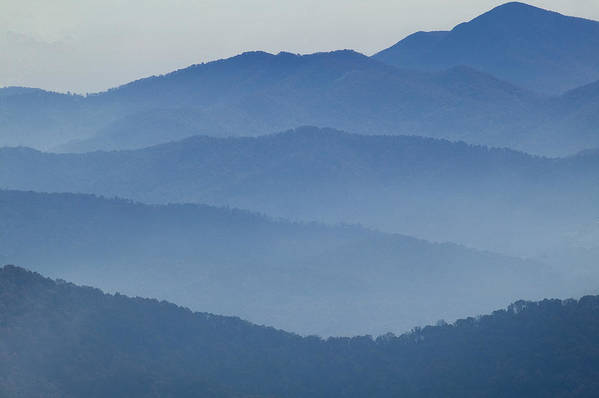 Mountains Print featuring the photograph Ridgelines Great Smoky Mountains by Rich Franco