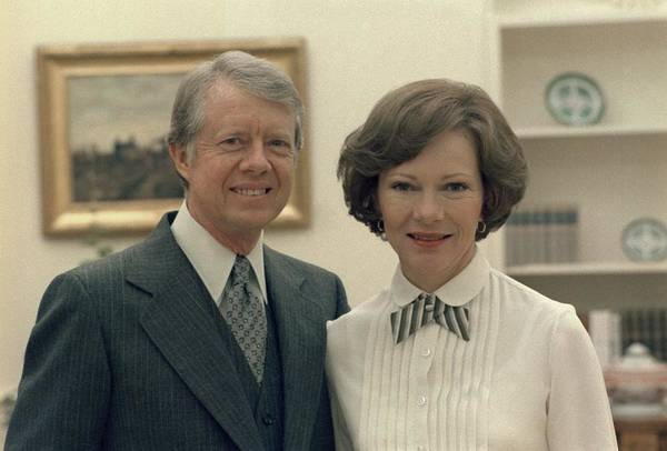 History Print featuring the photograph Rosalynn Carter And Jimmy Carter by Everett