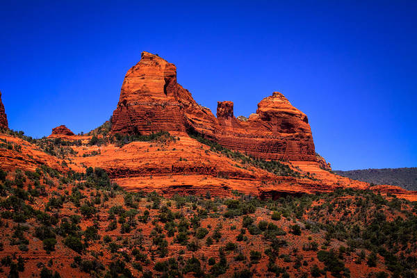 Sedona Print featuring the photograph Sedona Rock Formations by David Patterson