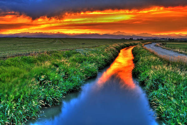 Colorado Print featuring the photograph Stream Of Light by Scott Mahon