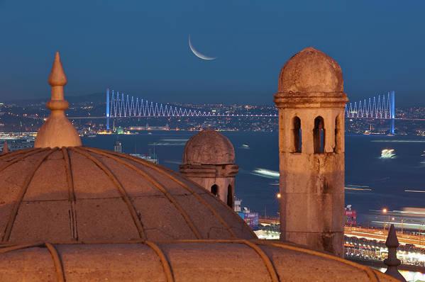 Horizontal Print featuring the photograph Suleymaniye by Salvator Barki