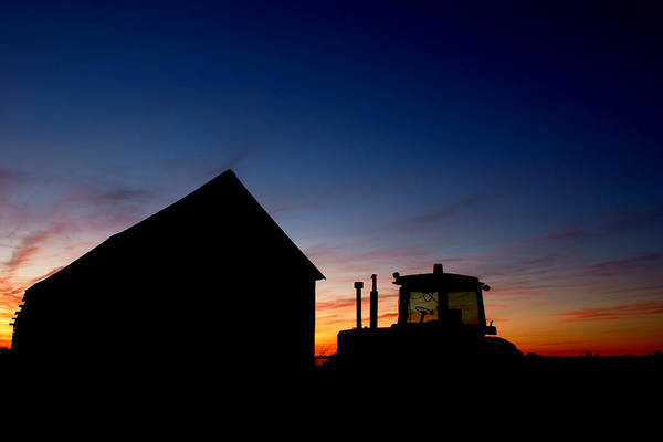 Barn Print featuring the photograph Sunset On The Farm by Cale Best