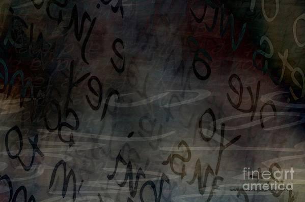 Implication Print featuring the digital art Surfacing Words by Vicki Ferrari