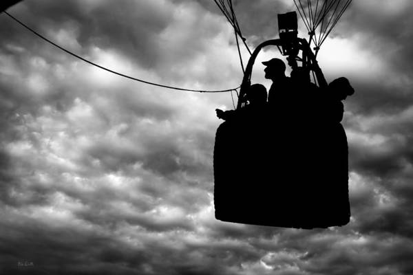 Silhouette Print featuring the photograph The Adventure Begins Hot Air Balloon by Bob Orsillo