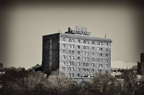 Bethlehem Print featuring the photograph The Bethlehem Hotel by Bill Cannon