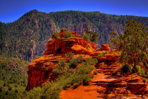 Sedona Print featuring the photograph The Wedding Rock In Sedona by David Patterson