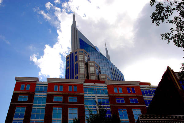 Nashville Print featuring the photograph There Where Modern And Old Architecture Meet by Susanne Van Hulst
