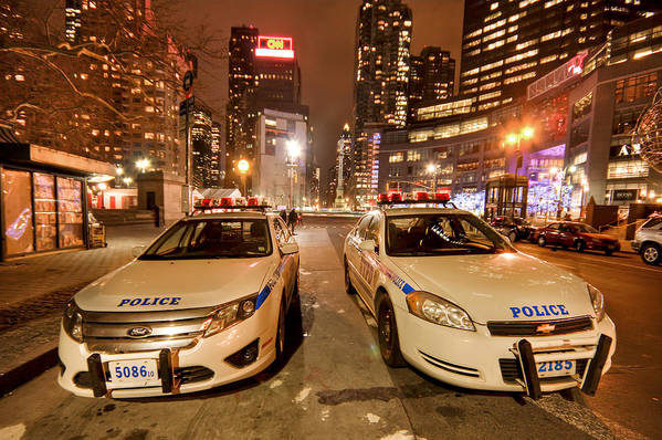 Nypd Print featuring the photograph To Serve And Protect by Evelina Kremsdorf