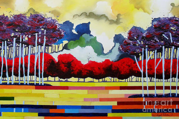 Landscape Print featuring the painting Tomorrows Yesterday by Joseph Palotas