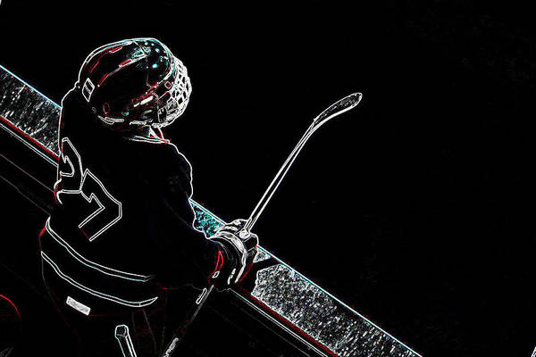 Tron Print featuring the photograph Tron Hockey - 1 by Tya Kottler