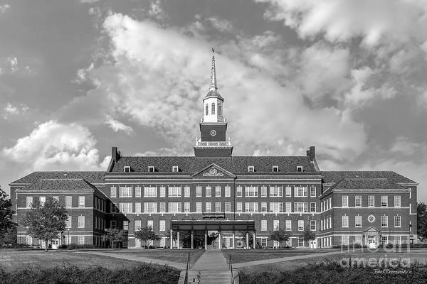American Print featuring the photograph University Of Cincinnati Mc Micken Hall by University Icons