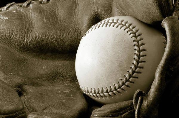 Baseball Print featuring the photograph Vintage Glove by Shawn Wood