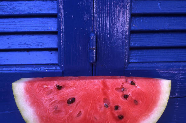 Watermelon Print featuring the photograph Watermelon by Steve Outram