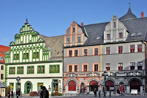 Weimar Print featuring the photograph Weimar Germany - A Town Of Timeless Appeal by Christine Till