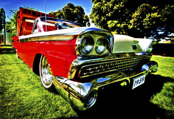 1959 Ford Print featuring the photograph 1959 Ford Fairlane 500 Skyliner by motography aka Phil Clark
