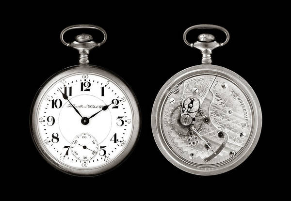 Pocketwatch Print featuring the photograph Antique Pocketwatch by Jim Hughes