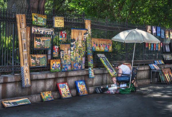 Jackson Square Print featuring the photograph Artist At Work by Brenda Bryant
