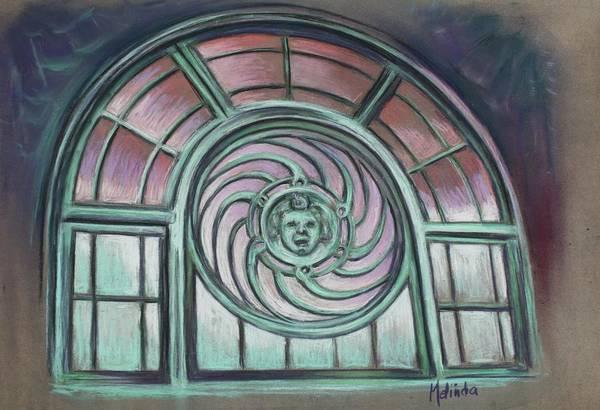 Asbury Park Print featuring the painting Asbury Park Carousel Window by Melinda Saminski