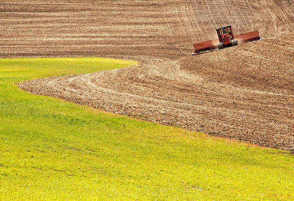 Usa Print featuring the photograph Fall Plowing by Doug Davidson