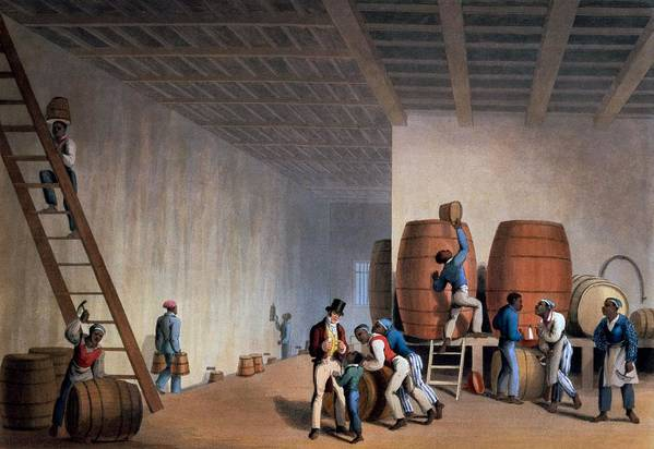 Slave Print featuring the drawing Inside The Distillery, From Ten Views by William Clark
