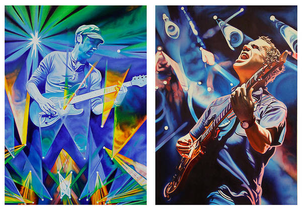 Umphrey's Mcgee Print featuring the painting Jake And Brendan by Joshua Morton