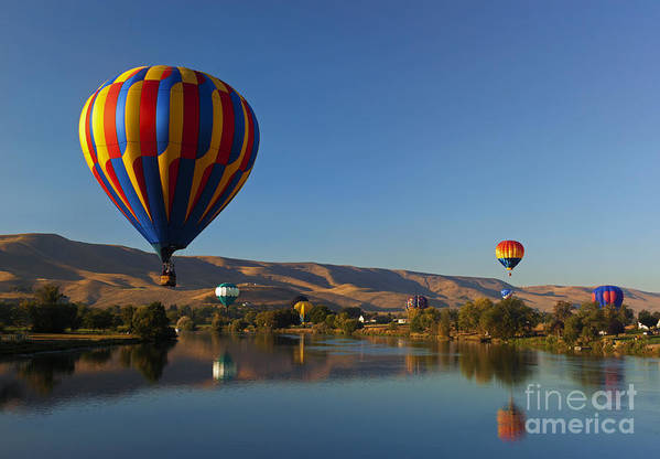 Balloons Print featuring the photograph Looking For A Place To Land by Mike Dawson