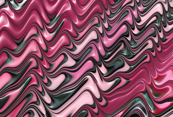 Pink Print featuring the digital art Shades Of Pink And Red Decorative Design by Matthias Hauser