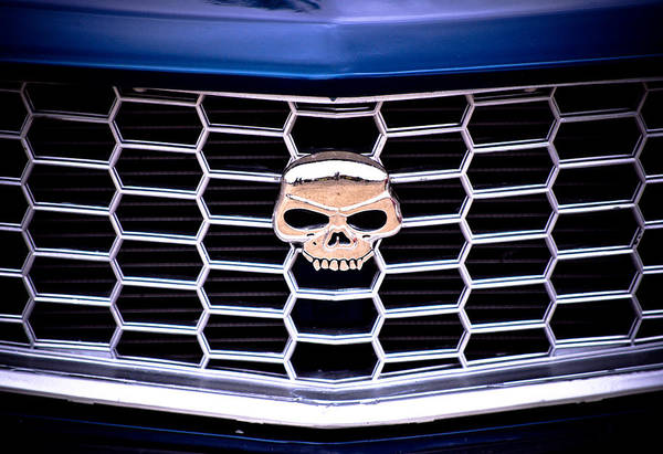 Mazda Rx3 Print featuring the photograph Skull Grill by Phil 'motography' Clark