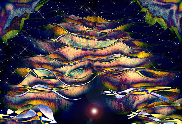 Abstract Print featuring the digital art The Cave Dweller by Wendy J St Christopher