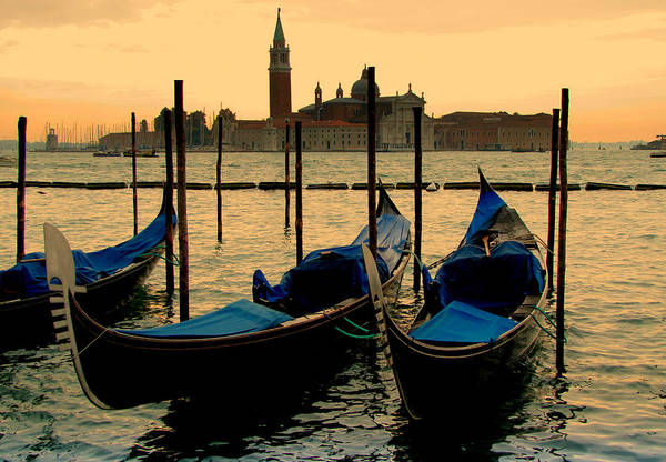 Venice Print featuring the photograph Morning In Venice by Barbara Walsh