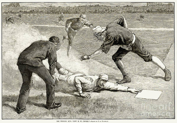 1885 Print featuring the photograph Baseball Game, 1885 by Granger