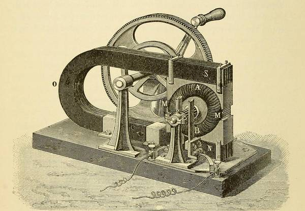 History Print featuring the photograph A Hand Cranked Device Onsisting by Everett