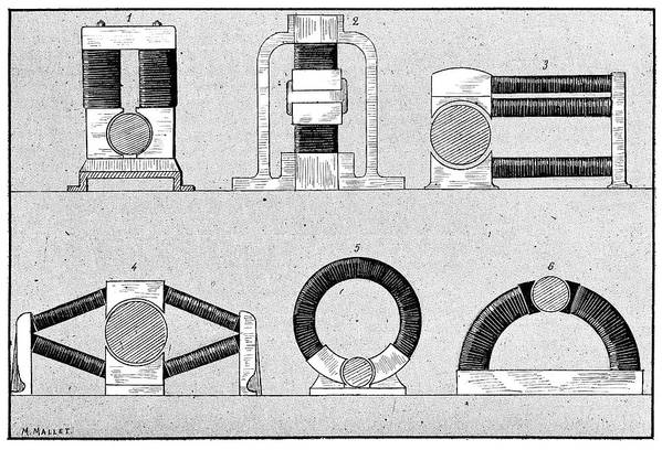Device Print featuring the photograph Dynamo Types, 19th Century by
