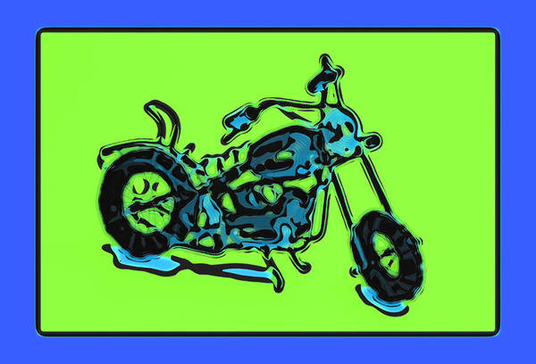 Art Print featuring the pyrography Motorbike 1c by Mauro Celotti