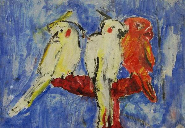 Bird Print featuring the painting Pure by Iris Gill