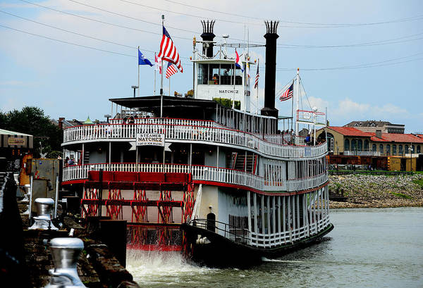 Steam Boat Print featuring the photograph Steamer Natchez by Bourbon Street