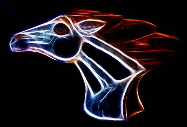 Bronco Print featuring the photograph Neon Bronco II by Shane Bechler